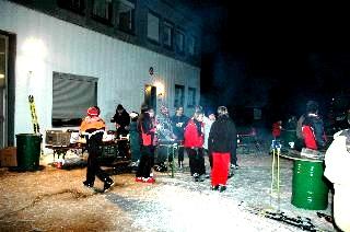 Feuerberg  in Flammen